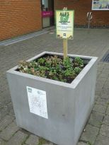 New signs for street planters