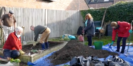 Installing the membrane in the second raised bed